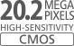 CMOS da 20,2 megapixel